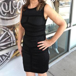 Diane Von Furstenburg Black Animal Print Dress